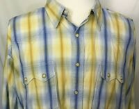 811 Classic Western Pearl Snap Shirt Mens XXL 2XL 100% Cotton