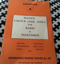 Radiofolder A. Master Colour Code Index For Radio & Television. Resistors Capaci