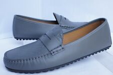 New Gucci Men's Shoes Loafers Drivers Size G 9.5 GG Logo Gray