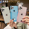 CARD HOLDER Case For iPhone XR 7 8 X 11 Pro Max Shockproof Cover Wallet Money