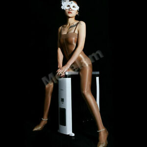 Ultra Shiny Bodysuit Women Sheer Nightwear Silky Body Stockings Straps Bodyhose