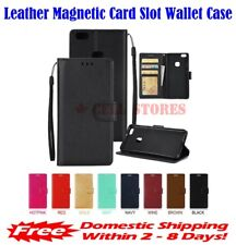 Leather Magnetic Card Slot Wallet Flip Cover Stand Case for Blackberry Priv