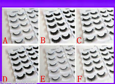 10 Pairs Handmade Demi False Fake Eyelash Extensions With Glue in 6 styles