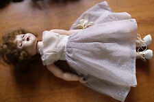 """Antique Vintage 18"""" Doll Open Mouth Teeth Sleep Eyes Composition & Hard Plastic"""