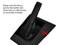 BLACK STITCHING LEATHER GEAR GAITER FITS PEUGEOT 504 SALOON 1975-1979