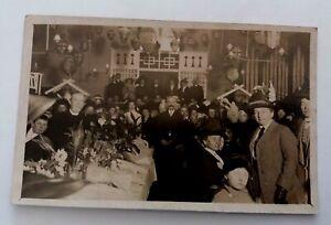 Vintage J.S. Bullen  Grimsby Pre 1914 Real  Photograph  Postcard - Civic  Recept