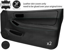 BLACK STITCH 2X FULL DOOR CARD LEATHER COVER FOR HONDA INTEGRA TYPE R DC2 93-01