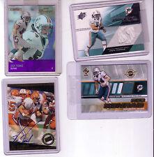 4 card Miami dolphins Zach Thomas & Rob Konrad Jersy and Autograph lot