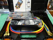 Testo 557 Digital Manifold Gauge Kit Refrigeration Pressure Gauge2 Clamp Probes