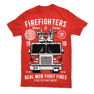 T Shirt Fire Fireman Firefighter Truck Fighter Gift Mens Awesome Present S-3XL