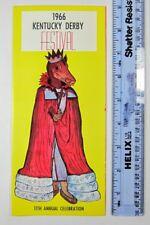 1966 Kentucky Derby Festival 11th Annual Horse Race Brochure Map Travel Ephemera