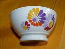 Joli bol vintage 70's porcelaine de Vierzon fleurs orange rouge jaune violette