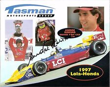 1997 ANDRE RIBEIRO autographed INDIANAPOLIS 500 PHOTO CARD POSTCARD INDY CAR LCI
