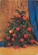 Postcard christmas tree with red globes
