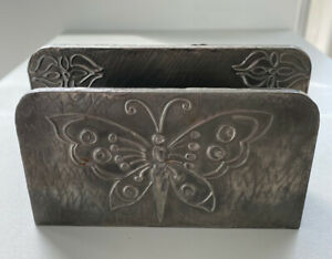 Art Deco Style Wooden Coated Letter Rack With Butterfly Design / sr2