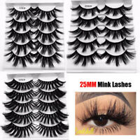 SKONHED 5Pair*13mm/25mm 3D Mink Hair Eyelashes Fluffy Natural Full Wispy Lashes-