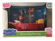Peppa Pig Grandad Dog's Pirate Boat Ship Toy Playset & Figure