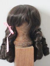"""perruque brune boucles Jumeau®tête42/44cm-poupée ancienne-doll Wig head sz17"""""""