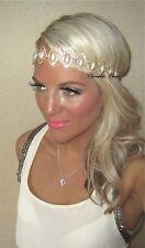Crema de Perla Diamante Oval Diamante Oro Vintage Tiara Hair Head Band Choochie