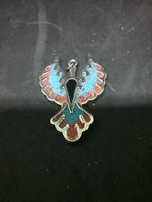 Phoenix Pendant Turquoise And Coral