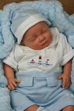 Papillon Bébés stunningreborn garçon bleu/blanc à col espagnol Ange Sofia