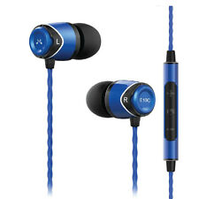 SoundMagic E10C With Mic In Ear Earphones in Blue Headphones In-Ear Buds Canal