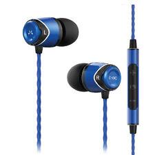 SoundMagic E10C With Mic In Ear Earphones in Blue Headphones In-Ear Buds Canal