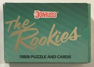 1989 Donruss The Rookies Puzzle and Cards Set with Ken Griffey Jr - New Sealed
