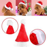 Christmas Pet Santa Hat Small Puppy Cat Dog Xmas Holiday Costume Ornaments Gift