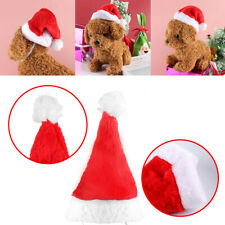 """Christmas Santa Hat 5.5"""" Wide for Pets Dog Cat & Other Small Animals Red"""