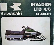 1980 Kawasaki Invader Ltd 4/6 Snowmobile Assembly & Preparation Manual Ss440B-1