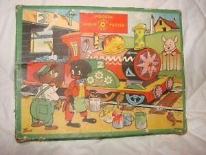 Vintage High Spot Ca 1960s 30 Piece Wooden Jigsaw Puzzle