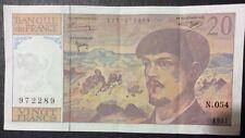 Billet 20 Francs Claude Debussy 1997 Série N.054 Bon État avec Pliures