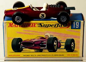 DTE HTF LESNEY MATCHBOX SUPERFAST 19-A PURPLE LOTUS RACING CAR NIOB
