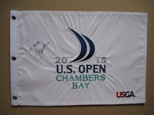 JORDAN SPIETH Signed 2015 US Open Pin Flag TO ANA Chambers Bay Golf PGA Masters