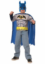 Batman Muscle Chest Set Child Costume Muscle Chest Shirt With Cape And Mask