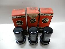 RCA 1943 6SJ7 Vacuum Tubes NOS Quantity Three Matched at 100% Gm One Gassy