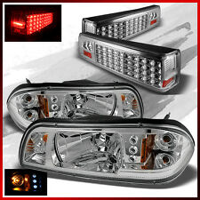 Fits 87-93 Ford Mustang LED Headlights+LED Tail Lights Lamps Replacement