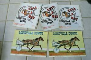 1980's Louisville Downs - Racing Program / 5 Programs