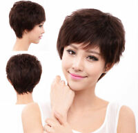 100% Human Hair New Fashion Women Lady Full Wig Wigs Hairpiece,Natural  Mama