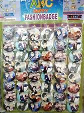 YURI!!! on ICE 4.3CM 40x LOT PIN back BADGE BUTTON NEW PARTY BAG CLOTH