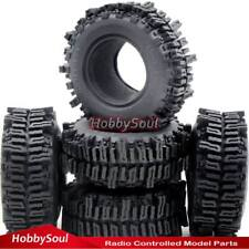 5pc RC 1.9 Mud Slingers Tire Tyre 93mm Fit RC 4WD Axial RC crawler 1.9 Wheel Rim