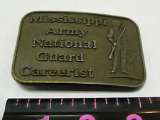 MISSISSIPPI ARMY NATIONAL GUARD CAREERIST BELT BUCKLE