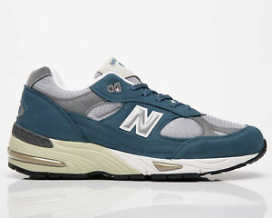 New Balance 991 Made In UK Men's Slate Blue Grey Casual Lifestyle Sneakers Shoes