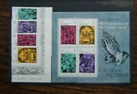 Cayman Islands 1978 Easter set & Miniature Sheet MNH