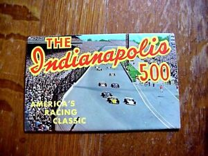 INDIANAPOLIS 500 Fold Out POSTCARD with PHOTOS of 1961 -- 1973 WINNERS