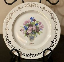 "Lenox 2003 ""New York� Annual Colonial Bouquet Collectors Plate Very Rare Find!"