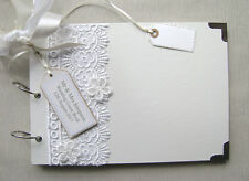 PERSONALISED WEDDING GUEST BOOK  A4 SIZE. PHOTO ALBUM/SCRAPBOOK/MEMORY BOOK