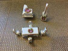 Vintage 7 Piece Limoges France Fragonard Miniature Dollhouse Furniture