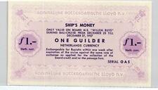 05 Netherlands / Niederlande Ship Money MS Willem Ruys Lloyd 1 Guilder 1957 UNC